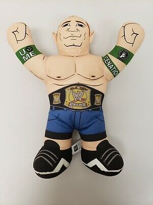 "John Cena 2012 WWE Wrestling Mattel Brawlin' Brawling Buddies 17"" Plush READ"