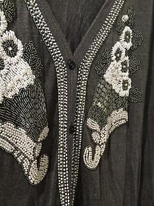 Alice McCall embroidered oversized grey cardigan Melbourne CBD Melbourne City Preview