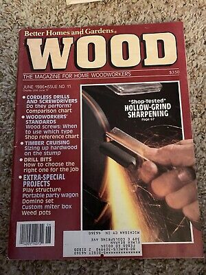 WOOD BY BETTER HOMES AND GARDENS, June 1986, issue # 11 Woodworking