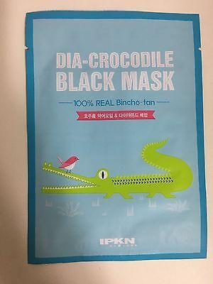 IPKN 1 SHEET DIA-CROCODILE BLACK MASK PACK (100% REAL BINCHO-TAN)