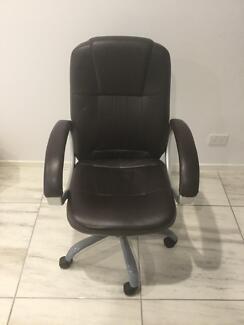Dark brown office chair
