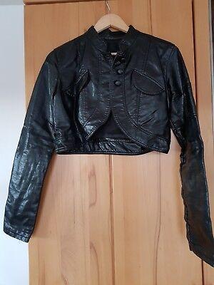 76083cf9a36f4a Sexy Bolero mit langarm Ärmeln Jäckchen Kurzjacke Bolerojacke schwarz  gebraucht kaufen Deutschland
