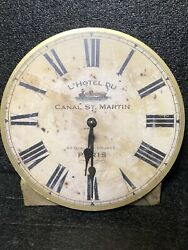 Timeworks Wall Clock 13 Rustic Style Round L'hotel Du Canal St.martin Paris