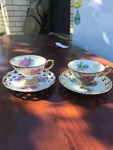 Japanese tea cups x 2 sets Woody Point Redcliffe Area Preview