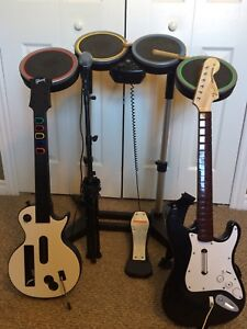 Wii Rock Band with 5 games