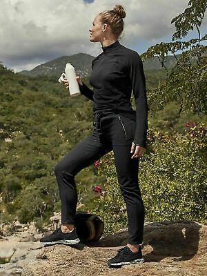ATHLETA Headlands Hybrid Pant Sz 4 S SMALL Black Hiking Climbing Pant