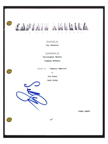 Sebastian Stan Signed Autographed Captain America The First Avenger Script COA
