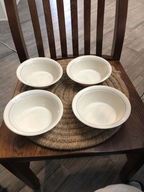 4 Corning Corell Country Promenade Geese CEREAL BOWLS