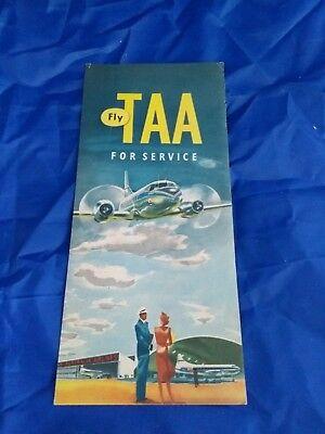 Fly TAA Trans Australian Airlines BROCHURE very rare vintage Australia BOAC