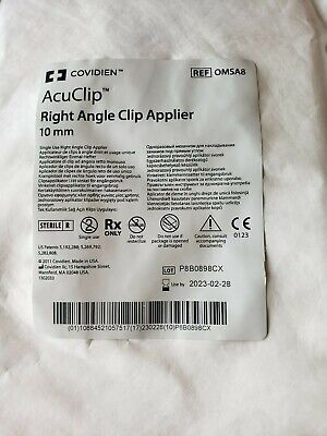 Covidien Acuclip Right Angle Clip Applier Omsa8 Exp 2023-02