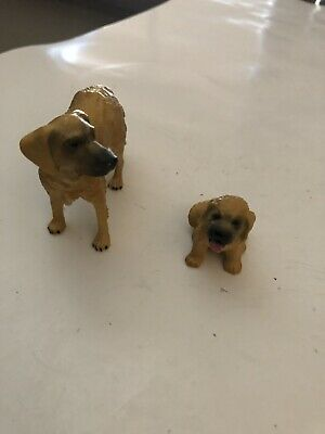 VINTAGE BREYER DOG WITH A PUPPY RESIN FIGURINES