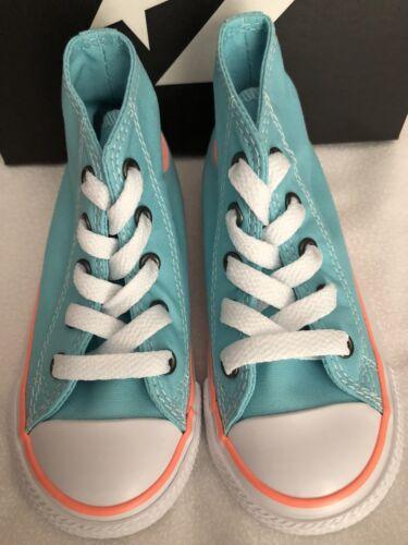 Converse AS CT HI Top Toddler Girl Shoes Aqua/Crimson pulse