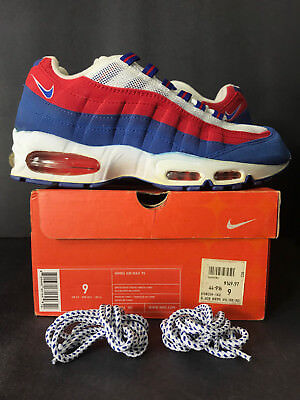 2004 DS NEW NIKE AIR MAX 95 INDEPENDECE DAY WOMEN 9 MEN 7.5 RED WHITE BLUE 8 7 6