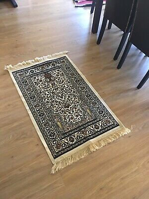 Beautiful Rug. Classic persian look. Black Gold Cream Double sided. 70cm x 121cm