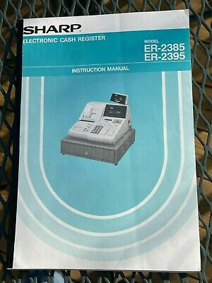 Sharp Er-2385 Er-2386 Cash Register Oem Instruction Manual