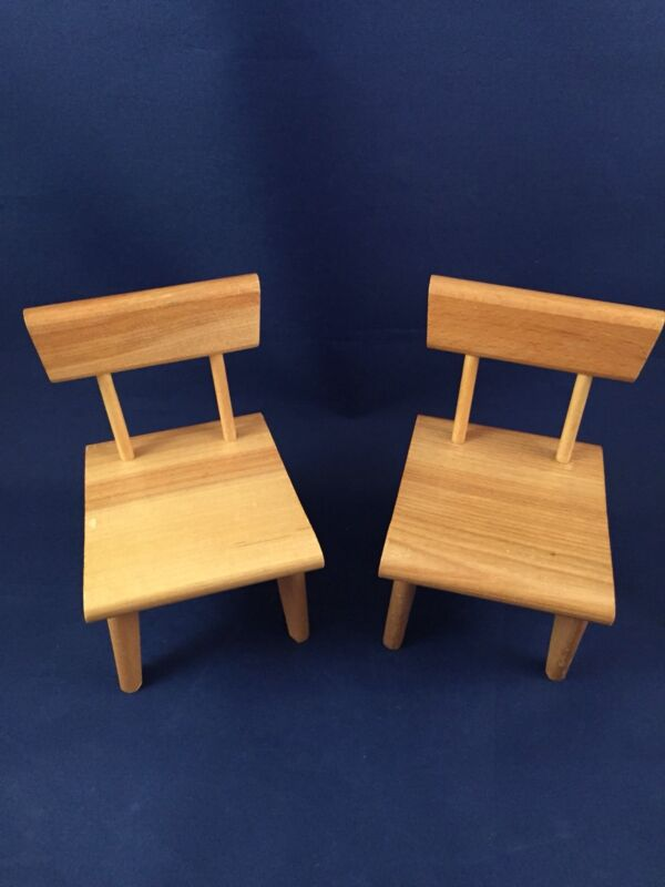 2 Strombecker Wood Dollhouse Dining Chairs only