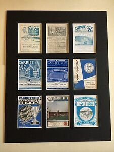 CARDIFF CITY FC RETRO PROGRAMME PICTURE MOUNTED 14