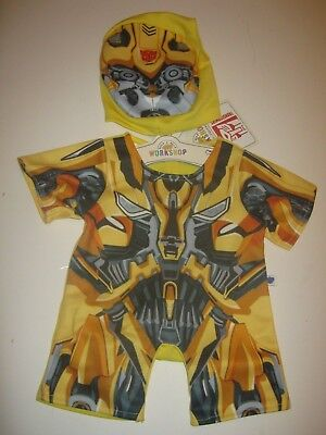 BUILD-A-BEAR Transformers BUMBLEBEE Yellow OUTFIT Costume - Build A Bear Costume