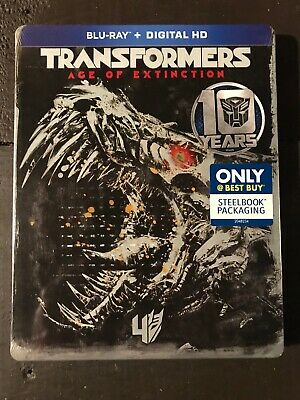 Transformers Age of Extinction Steelbook 10th Ann Blu-ray + Digital Best Buy NEW