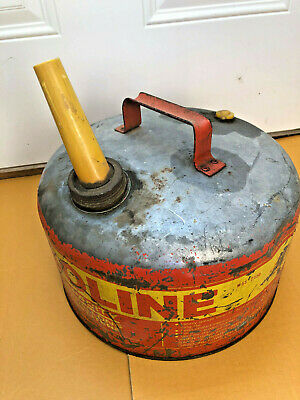 Bs8 Vintage Rare Western Metal Gas Can Usa 2 12 Gallon Gasoline