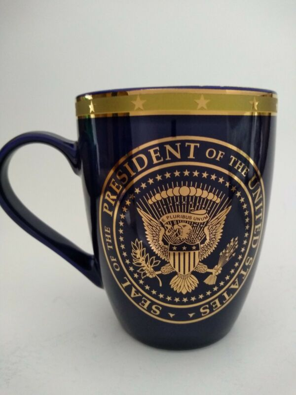The President of the United States Seal Gold and Blue Coffee Mug NEW