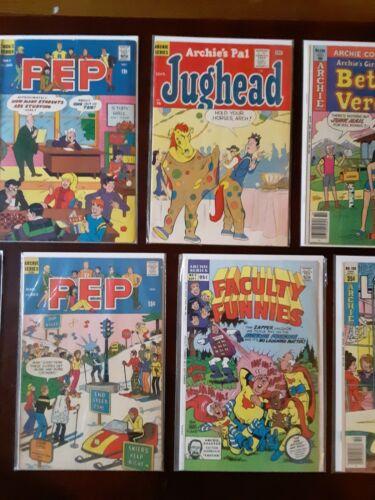 Lot of 1960s & 1970s ARCHIE COMICS Jughead #76 #197 Pep #205 #263 Betty Veronica