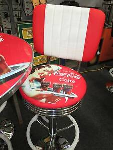 RETRO BAR STOOL WITH BACKREST - COCA - COLA Campbellfield Hume Area Preview