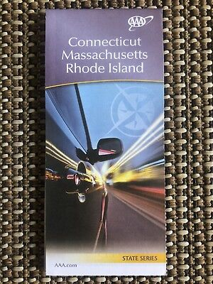 Aaa Connecticut  Massachusetts   Rhode Island Travel Road Map Vacation 2018 2019