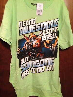 TRANSFORMERS BUBBLE BEE T-Shirt SIZE 14 / 16 YOUTH XL NEW](Transformers Bubble Bee)
