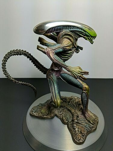 """Franklin Mint ALIEN """"Profile In Terror"""" Pewter Figurine Statue"""