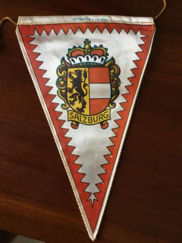 Vintage European travel Pennants/Flags Salzburg