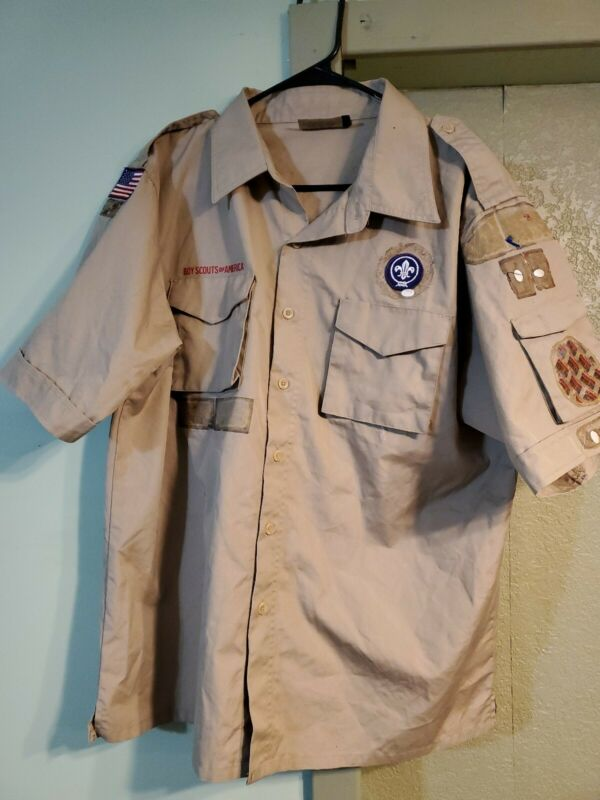 Boy scouts Of America Uniform Shirt Size Adult Large.       B