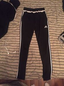Addidas black track pants (women's XS)
