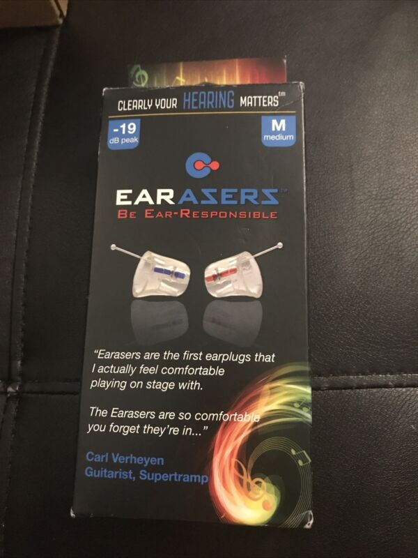 Earasers HEM001 Medium Musicians Hi-Fi High Fidelity Earplugs