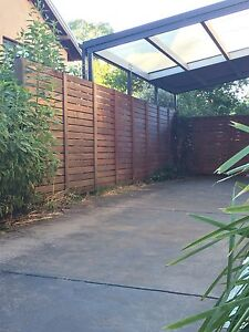 Merbau fence and hanging gate O'Connor North Canberra Preview