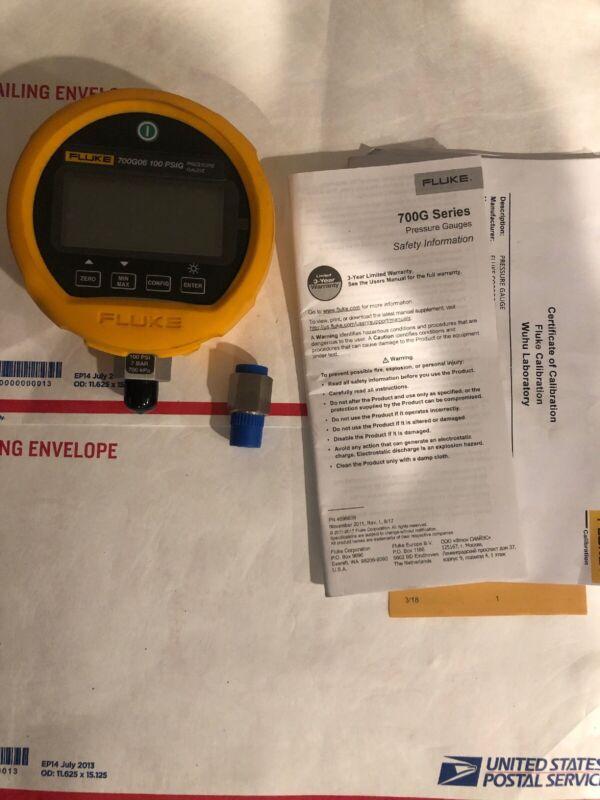 Fluke 700G06 Precision Pressure Gauge Calibrator 100 Psi  Calibrated 2019