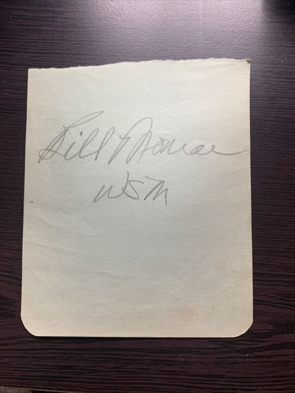 BILL MONROE Signed Autograph Bluegrass Album Page Huge