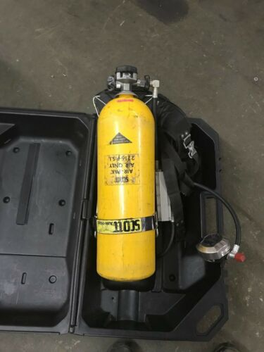 SCOTT AIR PAK AIR ONLY 2216 psi 802181.02 TANK HARNESS PLUS CASE