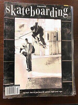 Transworld Skateboarding Magazine October 1996 Tom Boyle Jason Dill