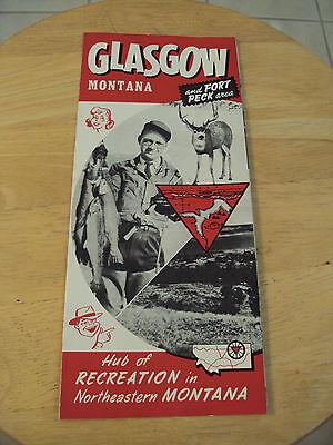 """VTG 1950's TRAVEL Brochure~""""GLASGOW MONTANA""""~Fort Peck DAM~"""