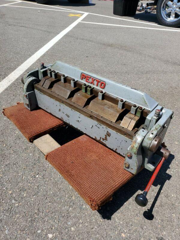 """Pexto 16 Gauge 24"""" Finger Brake, Model PX 24, Roper Whitney Co.       Can Ship"""