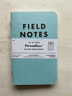 Field Notes; Threadless, Set of Three Memo Books