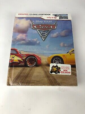 Cars 3: Exclusive Blu-ray/DVD/Digital 32 PAGE STORY BOOK Copy Brand New Sealed