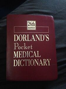 Medical dictionary (Dorland's pocket edition)