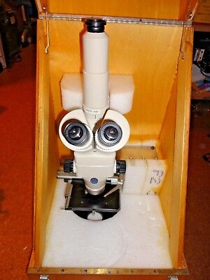 Nikon Smz-2t Stereozoom Microscope Trinocular On Nikon Rack Stand Storage Case