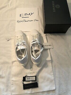 Authentic White Versace Sneakers. Made In Italy. White. Size 9. From Farfetch
