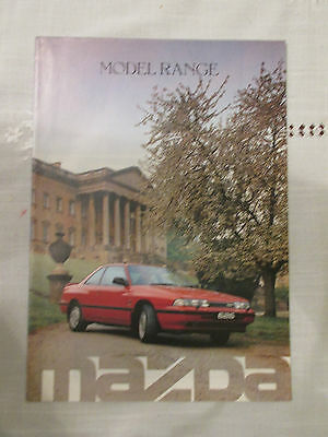 1988 MAZDA RANGE BROCHURE, 121, 323, 626, B2000, E2000 AND RX-7