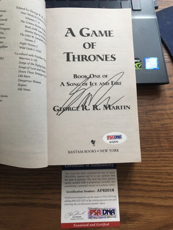 Game of Thrones Autograph George RR Martin Signed Book R R Auto GOT PSA DNA COA