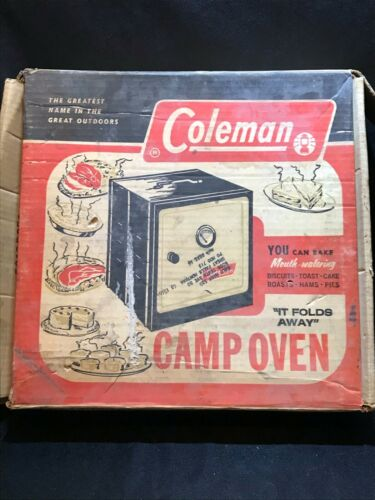Vintage Coleman Model 5010A700 Camp Oven With Original Box