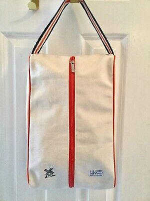 Golf Tennis Shoe Bag (Ame & Lulu Canvas Shoe Bag Golf Tennis Travel Gym Toiletry Case Bag Windmill EUC )